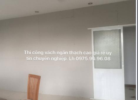 Dịch vụ đóng vách ngăn thạch cao tại Quận Tân Phú Giá Rẻ