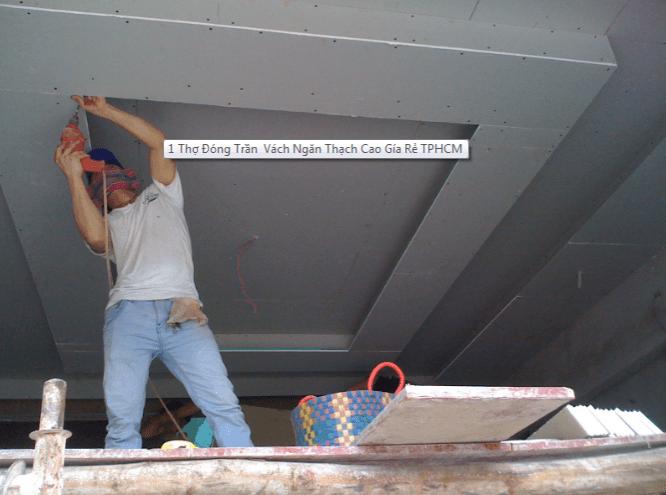 Thợ làm vách ngăn thạch cao tại tphcm