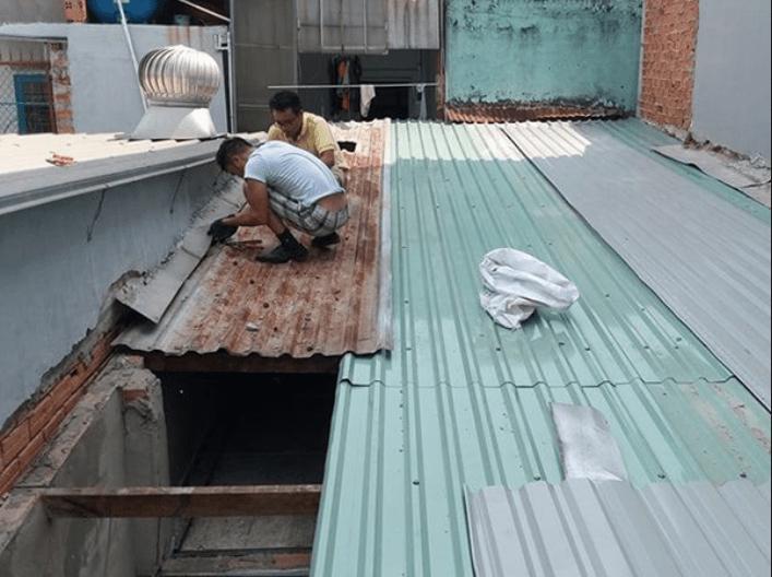 Nhận sửa mái tôn tại quận 12