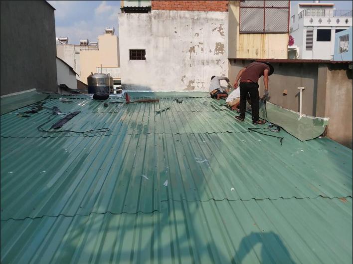Thợ sửa dột mái tôn tại quận bình thạnh