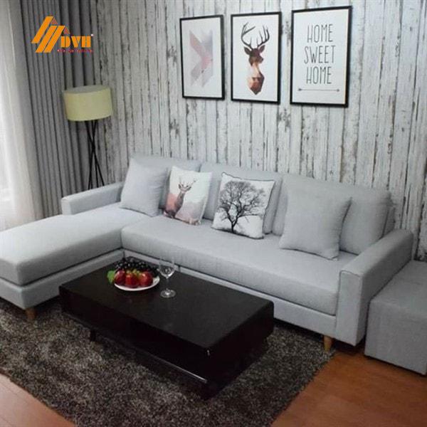 Ghế sofa với gam màu xám sang trọng