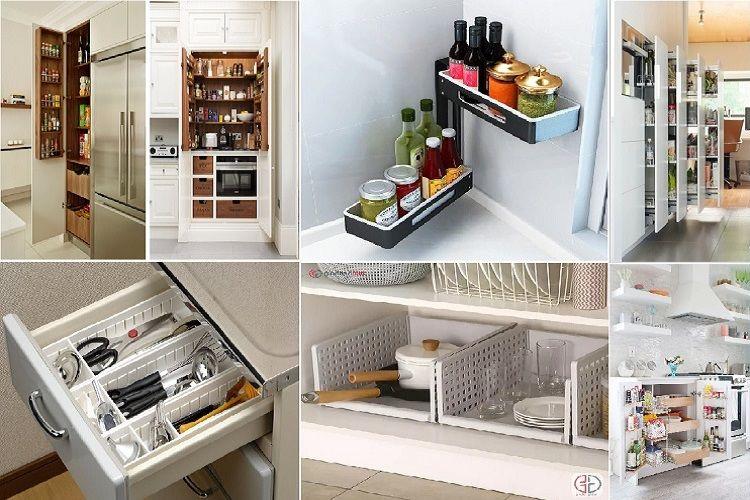 Sắp Xếp đồ dùng cho phòng bếp một cách hợp lí ngăn nắp nhất