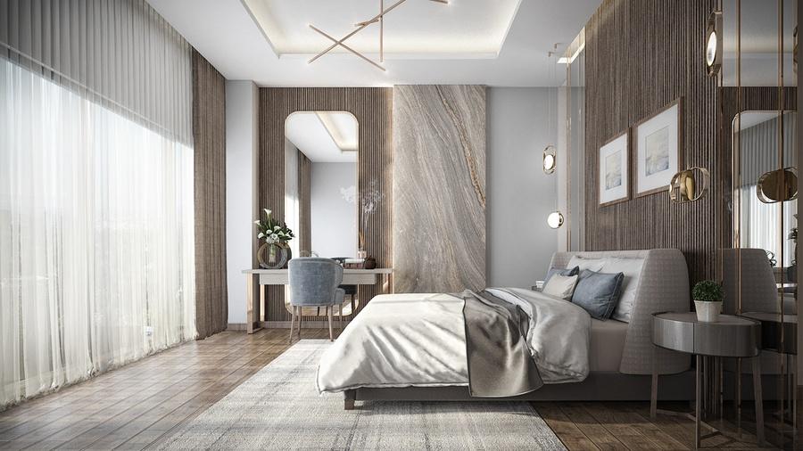 Trang trí Gương Cho không gian phòng ngủ thêm sáng và rộng rãi